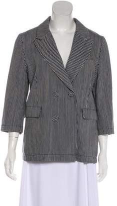 Marni Striped Denim Blazer