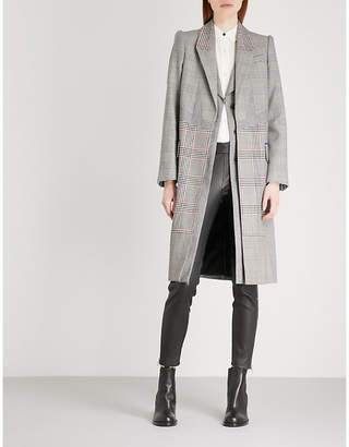 Alexander McQueen Checked single-breasted wool coat