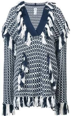 Rosie Assoulin tassel poncho pullover