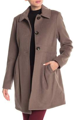 French Connection Baby Doll Wool Blend Coat