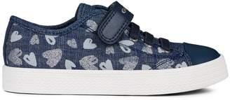 Geox Kid's Ciak Printed Denim Sneakers