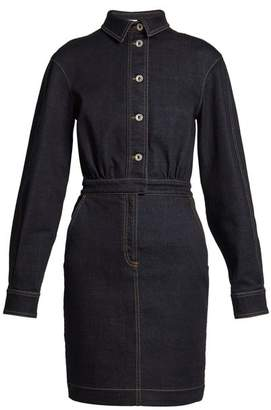 Stella McCartney Annamaria Point Collar Denim Dress - Womens - Indigo