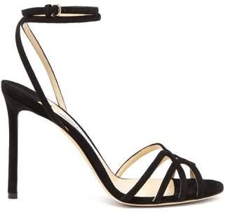Jimmy Choo Mimi 100 Wrap Around Leather Sandals - Womens - Black
