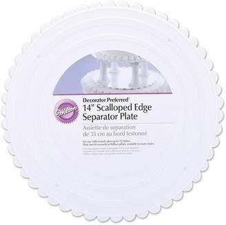 """Wilton Separator Decorator Preferred Scalloped Plate, 14"""", 1 Ct"""