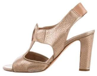 Chloé Metallic Burnished Sandals