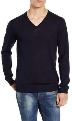 John Varvatos Slim Fit V-Neck Wool Sweater