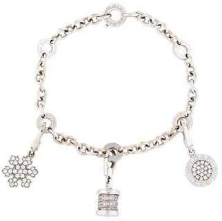 Bvlgari 18K Diamond Multi Charm Bracelet