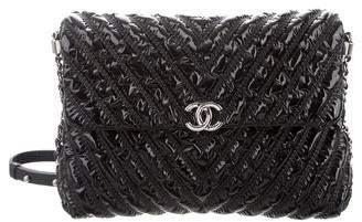 Chanel 2017 Chevron Space Suit Flap Bag