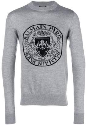 Balmain logo pattern sweatshirt