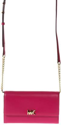 MICHAEL Michael Kors Mot Fuxia Leather Clutch