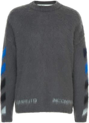 Off-White Logo-Intarsia Wool Sweater