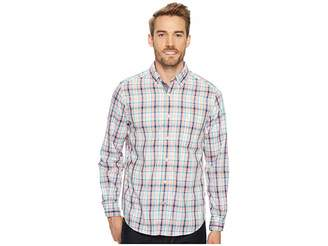 Nautica Long Sleeve Tartan Plaid Shirt Men's Clothing