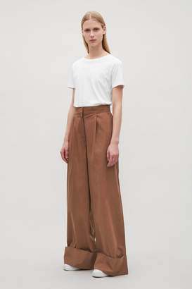 Cos WIDE-LEG TROUSERS WITH TURN UPS
