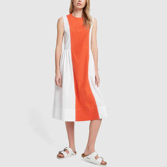 Marni Red Dress with White Side Detail