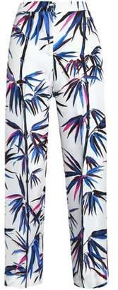 Emilio Pucci Cropped Printed Silk-Twill Straight-Leg Pants