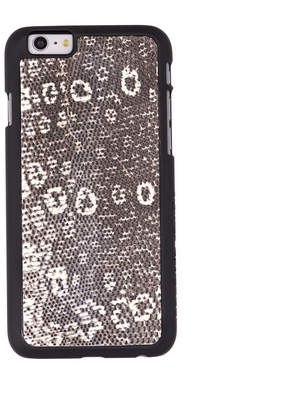 Felony Case White + Black Lizard Case for iPhone 6/6s
