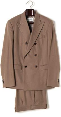 Maison Margiela (メゾン マルジェラ) - Maison Margiela ピークドラペル ダブルブレステッド スーツ モカ 50