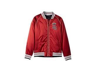Dolce & Gabbana Satin Baseball Jacket (Big Kids)