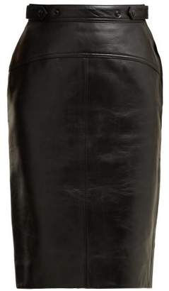 Acne Studios Leather Pencil Skirt - Womens - Black