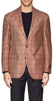 Jack Victor MEN'S CHECKED TWO-BUTTON SPORTCOAT - PINK SIZE 39 R