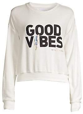 Spiritual Gangster Women's Good Vibes Crewneck Sweatshirt