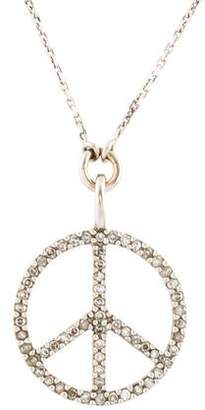 5de719d7c5ea Diamond Peace Sign Necklace - ShopStyle