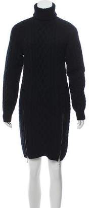 Alexander Wang Merino Wool Zip Accented Dress