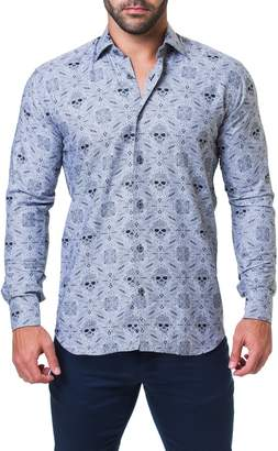 Maceoo Fibonacci Rocker Trim Fit Print Sport Shirt