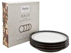 Denby Halo Set of 4 Dinner Plates