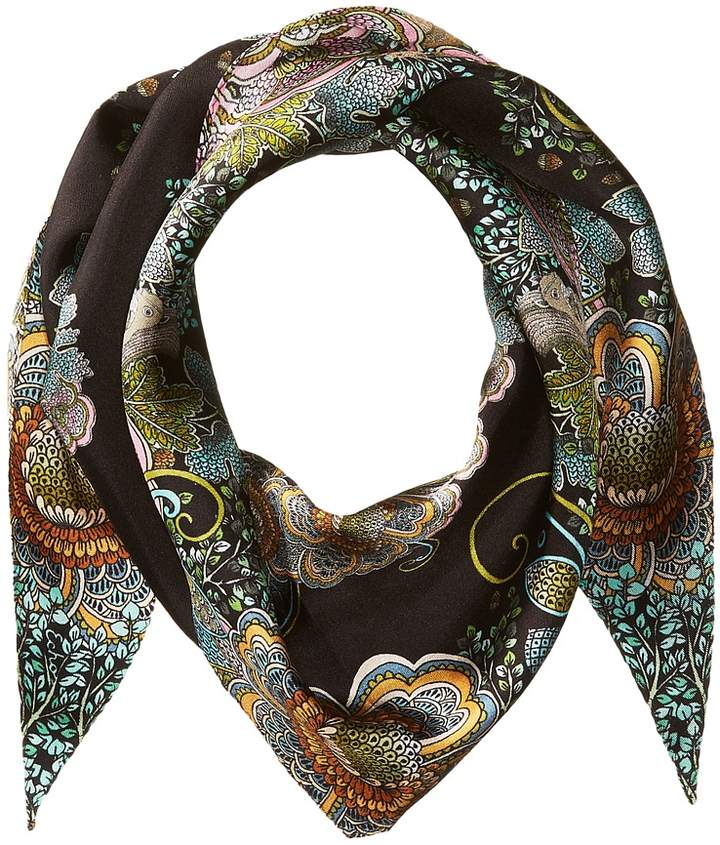 Echo Design - Forest Scene Silk Diamond Shape Scarf Scarves