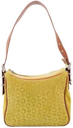 Celine Vintage Yellow Suede Handbag