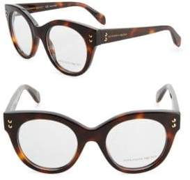 Alexander McQueen 49MM Cat Eye Eyeglasses
