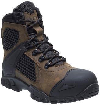 BATES Bates Mens Shock Fx Comp Toe Work Boots Waterproof Slip Resistant Lace-up