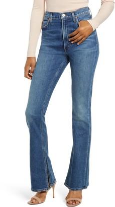 Citizens of Humanity Georgia High Waist Split Hem Bootcut Jeans