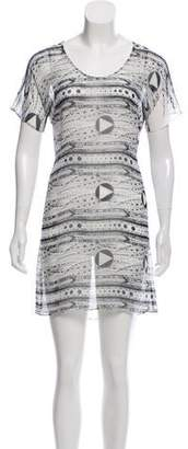 Vena Cava Sheer Printed Mini Dress