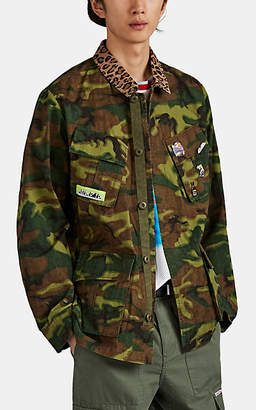 Ovadia & Sons Men's Camouflage-Print Cotton Ripstop Field Jacket - Green