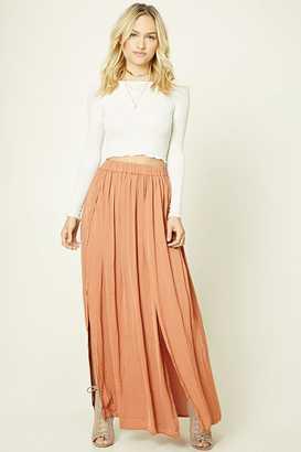 FOREVER 21+ Contemporary Satin Maxi Skirt $24.90 thestylecure.com