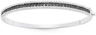 Black Diamond FINE JEWELRY 1 CT. T.W. Sterling Silver Bangle Bracelet