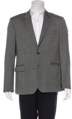 Givenchy Leather-Trimmed Wool Blazer