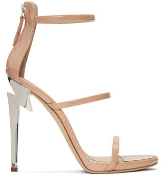Giuseppe Zanotti Pink Three-Strap G-Heel Sandals