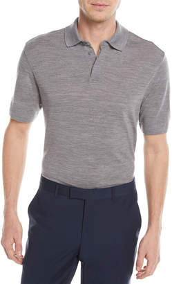 Ermenegildo Zegna Heathered Wool Polo Shirt