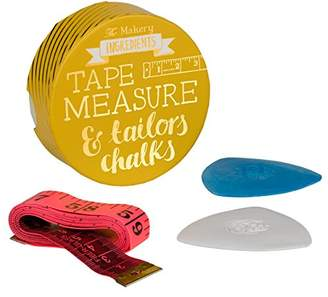 Camilla And Marc The Makery Tape Measure and Tailors Chalk, Multicoloured, 3 x 8.5 x 8.5 cm