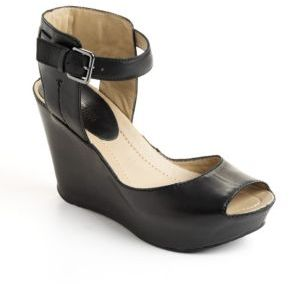 Kenneth Cole Reaction Sole My Heart Leather Platform Wedge Sandals