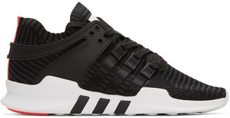 adidas Originals Black Equipment Support ADV Sneakers $150 thestylecure.com