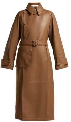 Joseph Stafford Leather Trench Coat - Womens - Brown