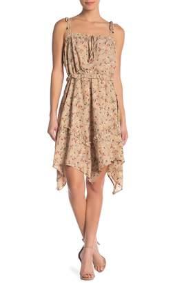 J.o.a. Tie Shoulder Floral Dress