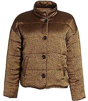 Joie Women's Maysa Leopard Print Puffer Jacket