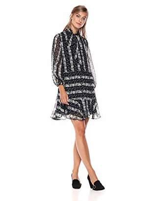 Shoshanna Women's Holley Three Quarter Sleeve Shift Dress