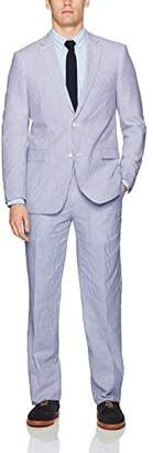 Adolfo Men's Seersucker Modern Fit Suit