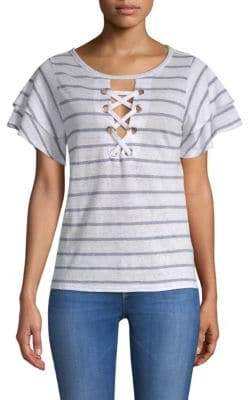 Generation Love Kiki Lace-Up Stripe Tee